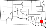 State map highlighting Turner County