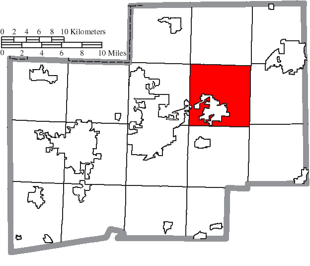 Location of Nimishillen Township in Stark County