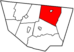 Map of Sullivan County, Pennsylvania highlighting Cherry Township