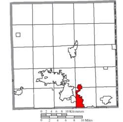 Location of Girard in Trumbull County
