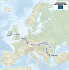 E European Long Distance Path Wikipedia - Map out walking distance