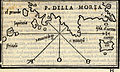 Map of the southern coast of the Peloponnese, charting Sapienza, Strofades, and Cythera islands - Bordone Benedetto - 1547.jpg