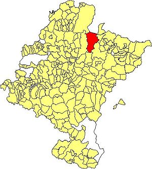Erro, Navarre - Location of Erro within Navarre
