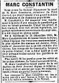Marc Constantin - Le Petit Journal - 29 janvier 1888 - page 2 - 4ème colonne.jpg