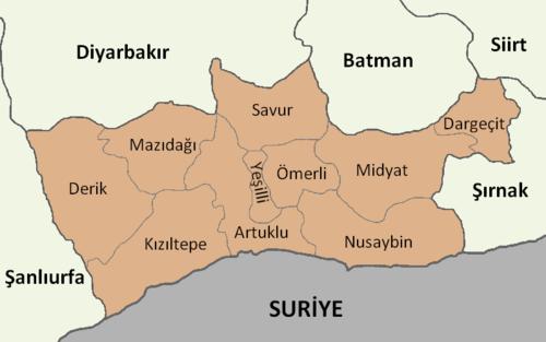 Mardin'in ilçeleri