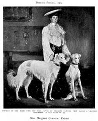 Mme Blair avec deux chiens