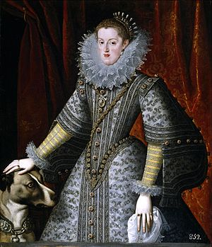 Margaret of Austria, Queen of Spain - Portrait by Bartolomé González y Serrano, 1609