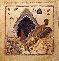 Margaritone d'arezzo, madonna col bambino in trono e scene religiose, 1263-64 ca. 08 tentazione di san benedetto.jpg