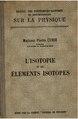 Marie Curie - L'isotopie et les éléments isotopiques, 1924.pdf