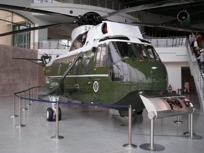 Marine One at the Reagan Library