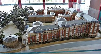 Plymouth Marjon University - A model of the Chelsea Campus