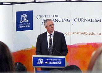 Mark Scott (businessman) - Scott speaking at the University of Melbourne in 2014