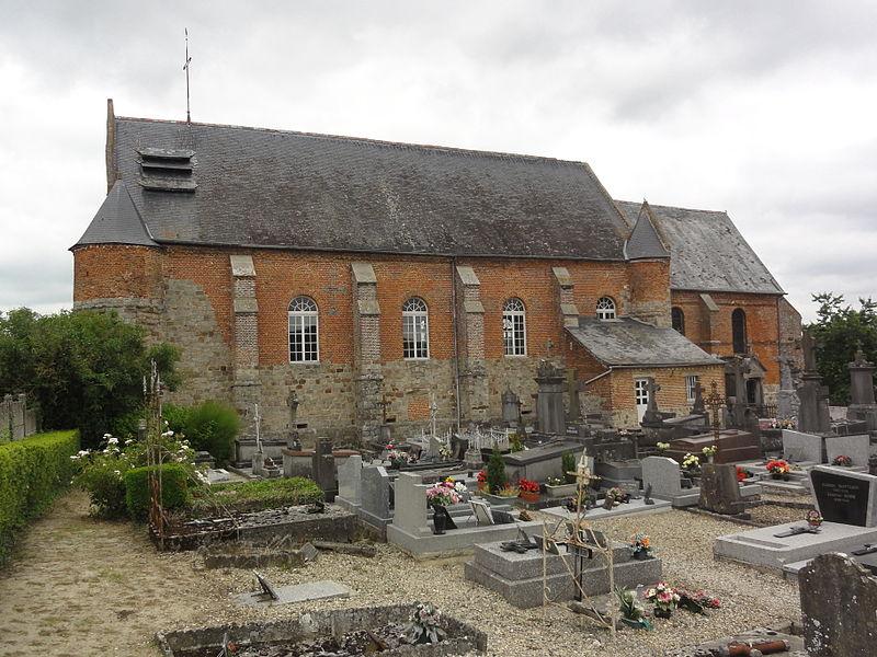 Marly-Gomont (Aisne) église de Marly