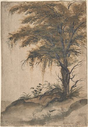 Marten van Valckenborch - Study of a tree