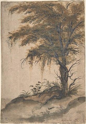 Marten van Valckenborch - Study of a tree