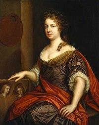 Mary Beale - Zelfportret van Mary Beale (1633-1699) - NPG 1687 - National Portrait Gallery.jpg