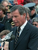 Maryland Governor Harry Hughes speaking at Fort Belvoir, Feb 16, 1985.jpg