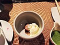 Mascarpone ice cream, red bean, chestnuts, rice crackers, green tea sauce 2.jpg