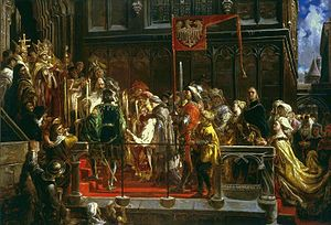 Jagiellonian dynasty - Baptism of Władysław III of Poland at Wawel in 1425