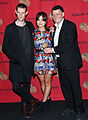 Matt Smith , Jenna Louise Coleman and Steven Moffat at the 72nd Annual Peabody Awards.jpg