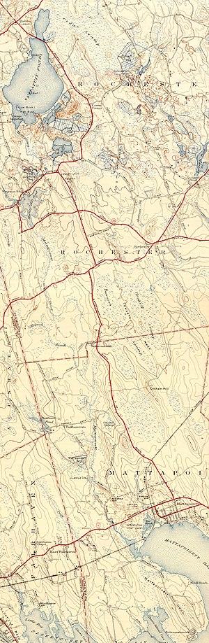 Mattapoisett River - A map of the Mattapoisett River.