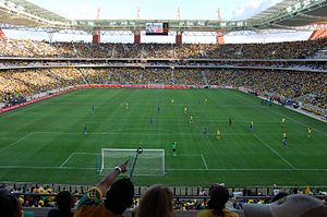 2013 Africa Cup of Nations - Image: Mbombela Stadium Bafana vs Thailand