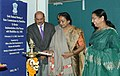 Meira Kumar lighting the lamp to inaugurate the Sixth National Meeting of the State commissioners for Disabilities to review implementation of the persons with Disabilities Act, in New Delhi on February 02, 2007.jpg