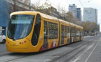 C2-class Melbourne tram - C2-class undergoing testing on La Trobe Street in June 2008