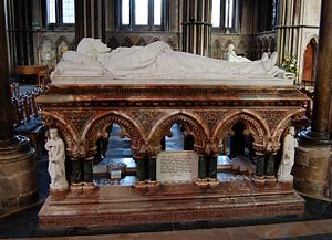 William Ward, 1st Earl of Dudley - The monument to William Ward, 1st Earl of Dudley, in Worcester Cathedral.