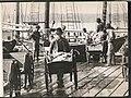 Men unloading halibut fishing catch, ca 1914 (MOHAI 6333).jpg