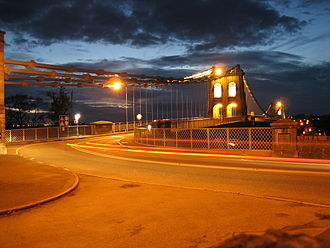 Menai Suspension Bridge - Menai Suspension Bridge in the evening