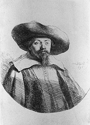 Menasseh Ben Israel - Portrait of Menasseh Ben Israel by Rembrandt