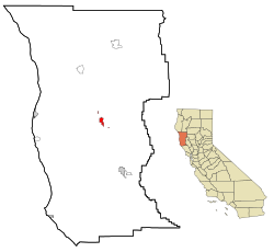 Mendocino County California Incorporated and Unincorporated areas Willits Highlighted.svg