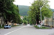 Merab Kostava street, Ambrolauri (Photo A. Muhranoff, 2011).jpg