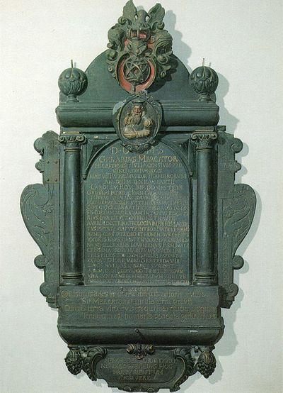 Mercator epitaph in the church of St Salvator, Duisburg Mercator epitaph pic.jpg