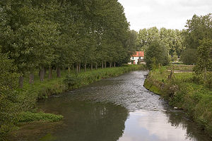 Aa (river, France) - The Aa at Merck-Saint-Liévin