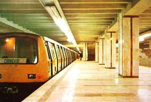 Astra Automobile & Waggon Factory - A Bucharest Metro train Astra IVA in the 1980s