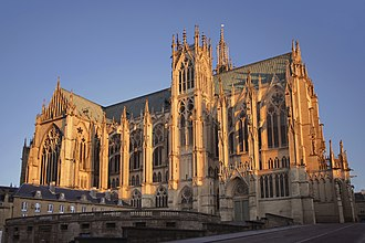 Metz - The Saint-Stephen Cathedral, view of the northern façade