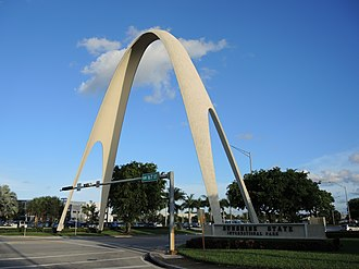 Miami Gardens, Florida - The Sunshine State Arch of Miami Gardens in 2014
