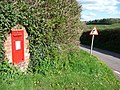 Mid Devon , Post Box and Road - geograph.org.uk - 1255400.jpg