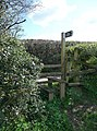 Mid Devon , Stile and Public Footpath Sign - geograph.org.uk - 1253768.jpg