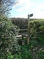 Mid Devon , Stile and Public Footpath Sign - geograph.org.uk - 1253768.jpg