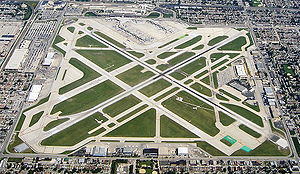 An Aerial view of Chicago Midway International...
