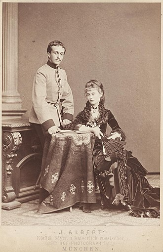 Miguel, Duke of Braganza - Miguel with his first wife Princess Elisabeth of Thurn and Taxis, late 1870s
