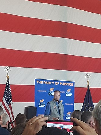 Braun campaigning in Greenfield, Indiana Mike Braun campaigning in Greenfield, Indiana.jpg