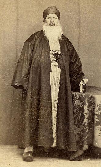 Lebanese Protestant Christians - Image: Mikhail Mishaqa US Vice Consul in 1859