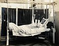 Military Hospital V.R. 76, Ris-Orangis, France; soldier with Wellcome V0029394.jpg