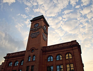 Chicago, Milwaukee, St. Paul and Pacific Depot Freight House and Train Shed - The Depot's clock tower.