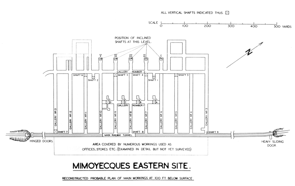 Mimoyecques eastern site plan