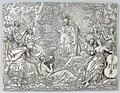 Minerva en de Muzen Zilveren plaquette met voorstelling van Minerva en de Muzen, BK-1953-12.jpg